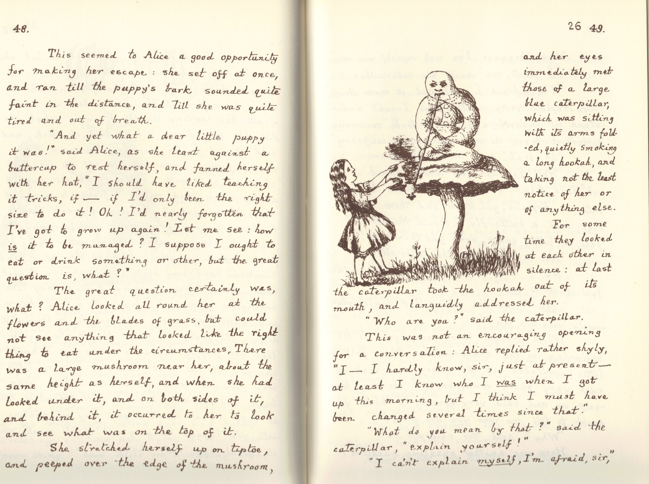 differences between alice s adventures in wonderland Alice's adventures in wonderland is shadowed by hints of death, and death is a recurring theme of both of carroll's books  alice is aware of differences in wealth.