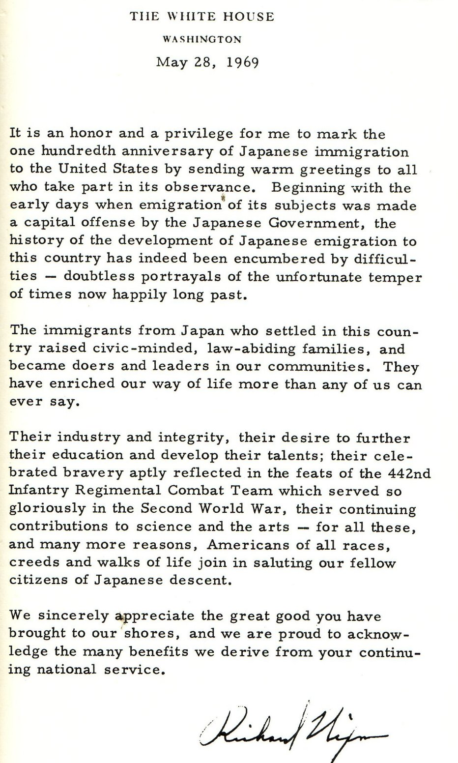 japanese internment letter