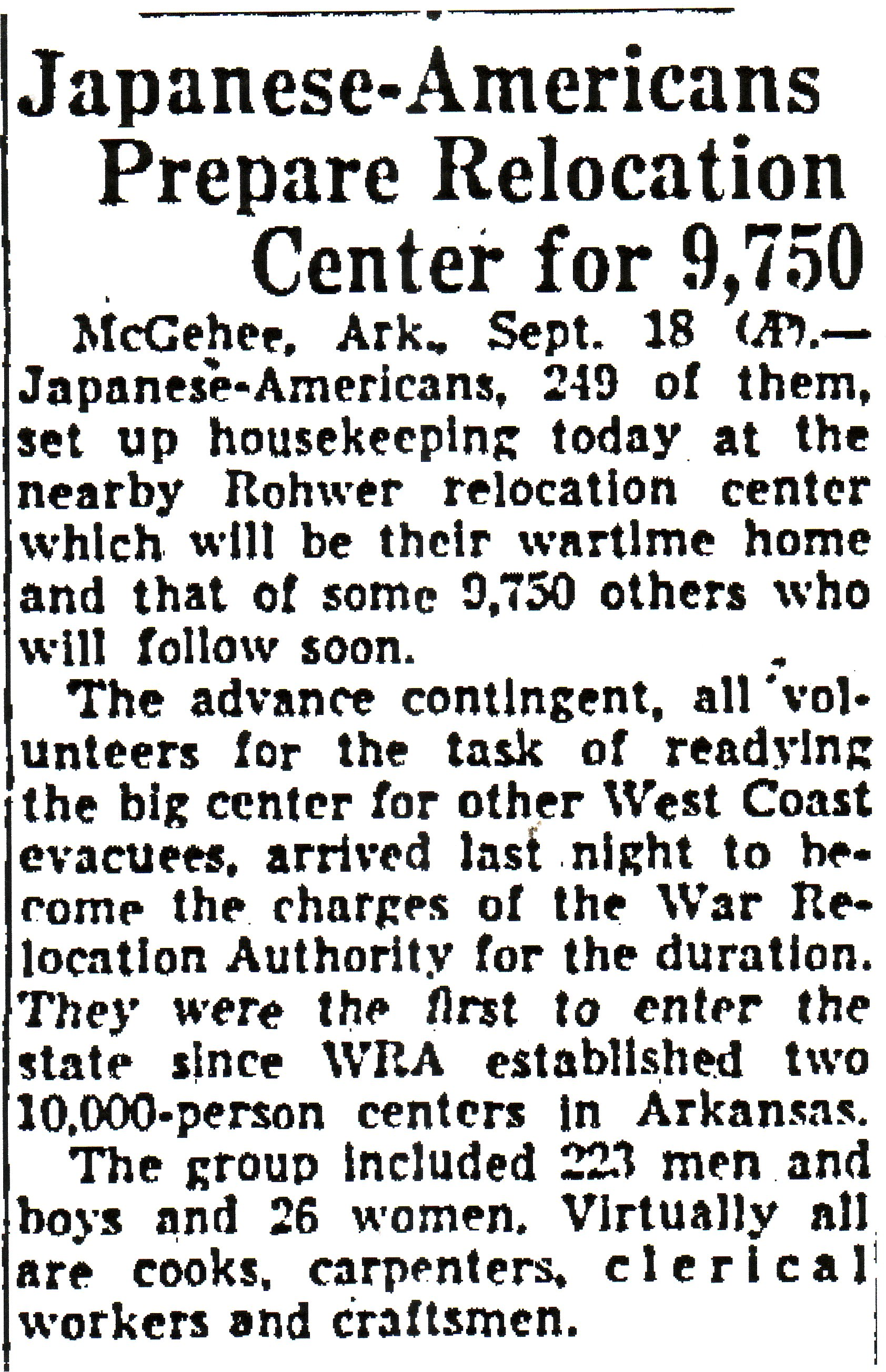 From the syracuse herald sept 12 1942 the beginnings of the rohwer