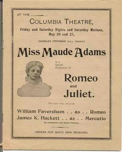 The Little Minister On Tour Maude Adams