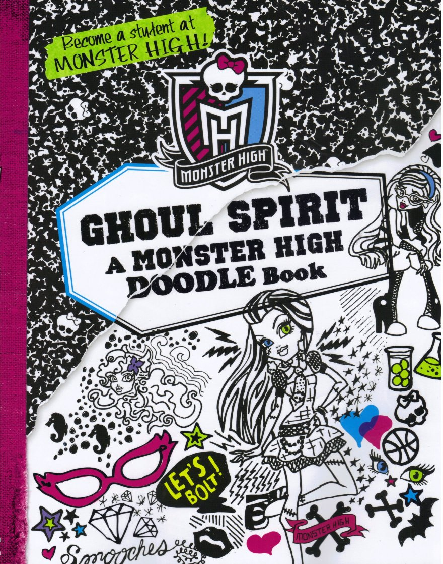 Uncategorized Monster High Activity Book doodle jpg this is an activity book where the user gets to do a lot of drawing everything related school and various monsters there